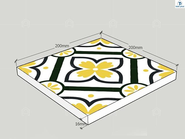 Lựa chọn gạch bông sử dụng với kích thước chuẩn