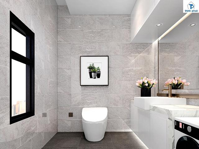 Ốp gạch tường cho nhà vệ sinh